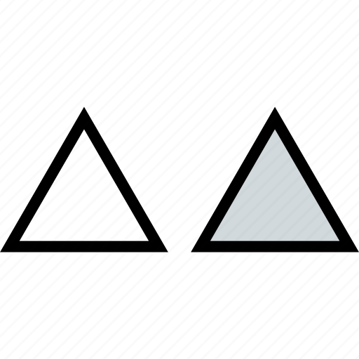 abstract, creative, triangles, two icon
