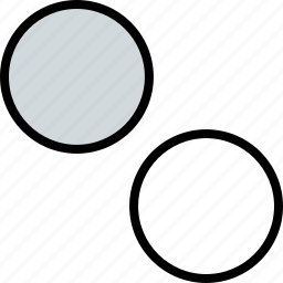 abstract, creative, dots, two icon