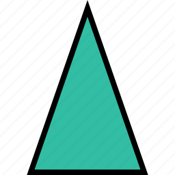 abstract, cone, creative, up icon