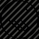 arrow, back, double, point, pointer icon