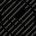 arrow, double, left, point, pointer, thin icon