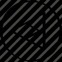 arrow, left, point, pointer, triangle icon