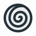 abstract, circle, figure, geometric, mark, shape, spiral icon