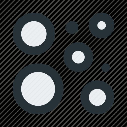 abstract, bubbles, circles, figure, geometric, shape icon