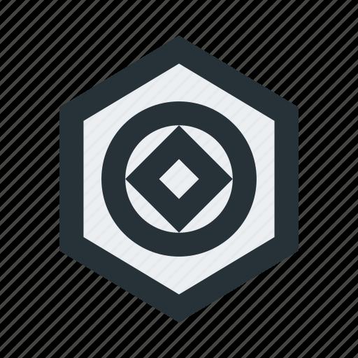abstract, circle, figure, geometric, hexagon, shape, square icon