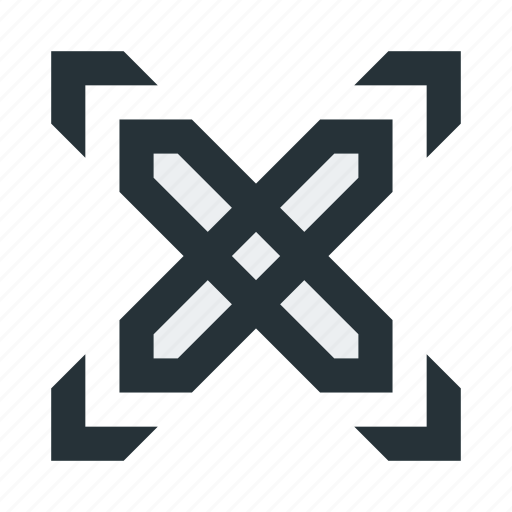 abstract, cross, figure, lines, mark, shape, square icon