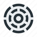 abstract, figure, lines, maze icon