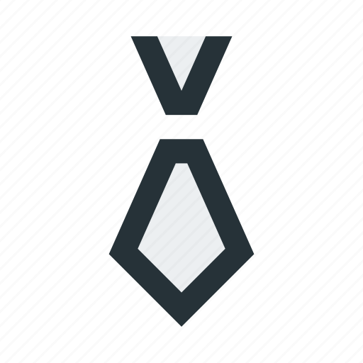 abstract, business, figure, polygon, suit, tie icon