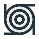 abstract, figure, lines, rings, structure icon