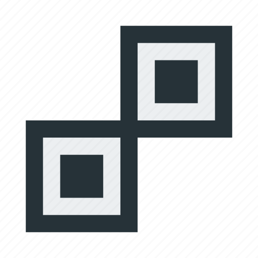 abstract, figure, squares icon