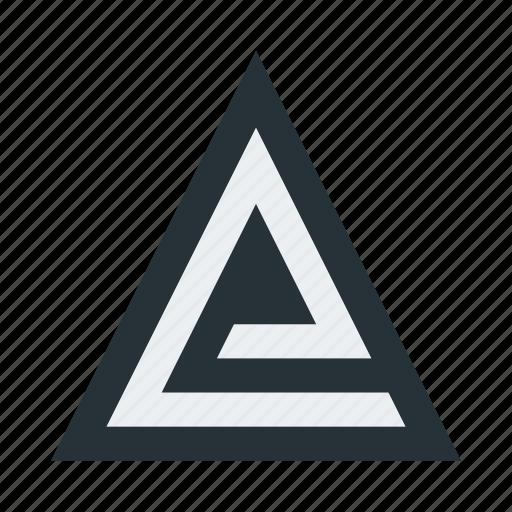 abstract, figure, geometric, mark, shape, sign, triangle icon