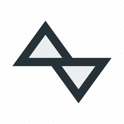 abstract, figure, lines, mark, shape, sign, triangles icon