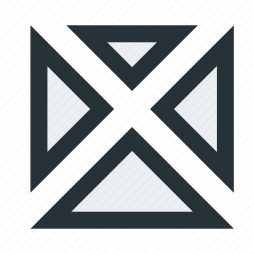 abstract, cross, figure, lines, mark, shape, triangles icon