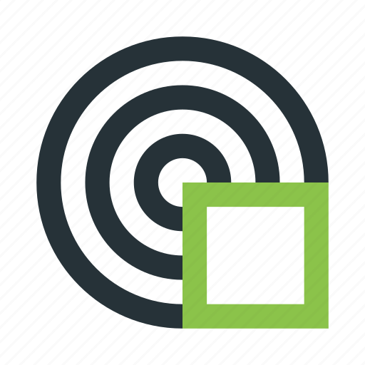 abstract, creative, figure, lines, rings, square, structure icon