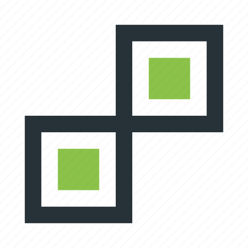 abstract, creative, figure, mark, squares icon