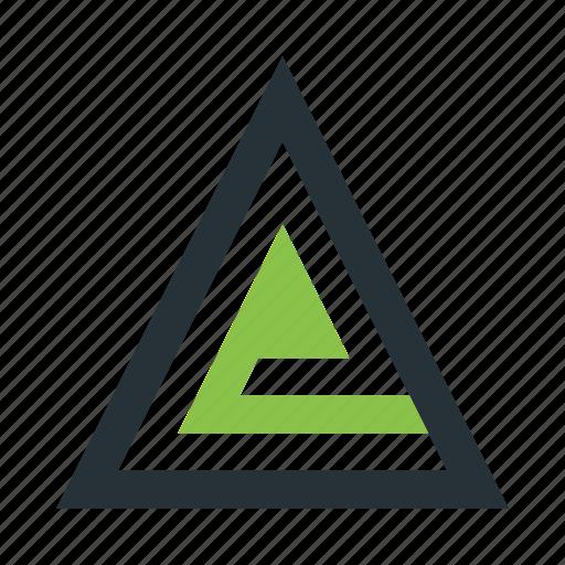 abstract, creative, figure, triangle icon
