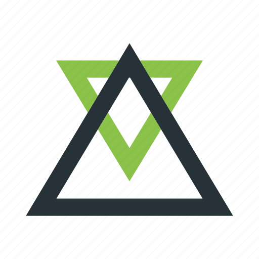 abstract, creative, figure, shapes, triangles icon
