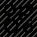 abstract, bubbles, circles, dots, figure icon