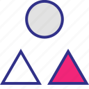 abstract, assorted, creative, shapes icon
