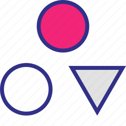 assorted, creative, design, shapes, three icon