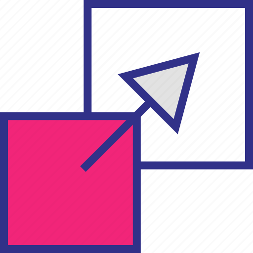 arrow, extend, point, right icon