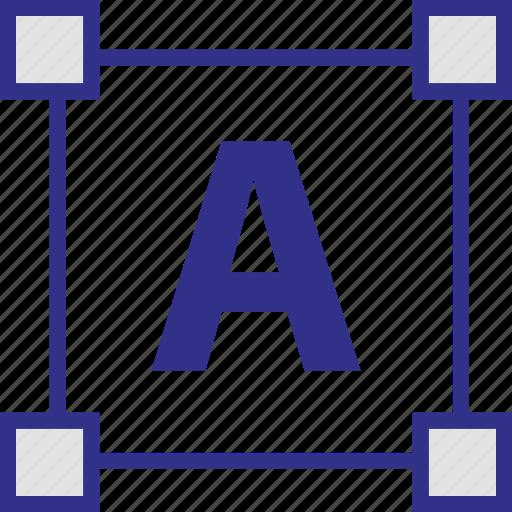 edge, edges, letter, shape icon