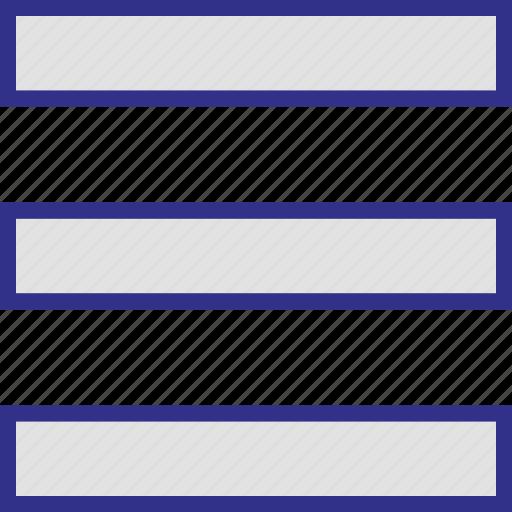 lines, menu, rectangles, three icon