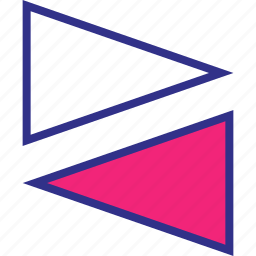 assorted, left, right, triangles icon