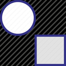 creative, shape, shapes, two icon
