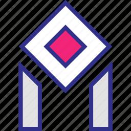 edm, futuristic, lines, shape icon