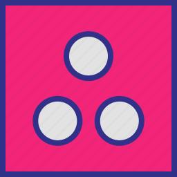 abstract, dice, dots, three icon