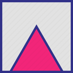 point, pointer, triangle, up icon