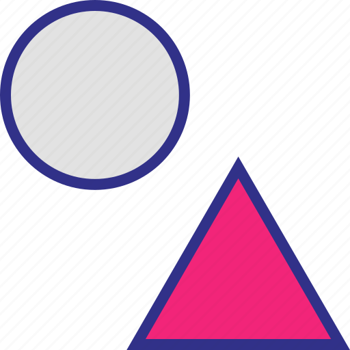 dot, pointer, triangles, up icon