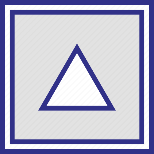 abstract, pointer, triangle, up icon