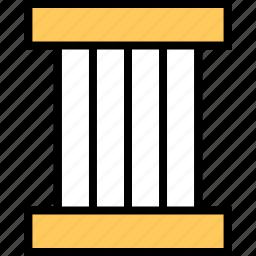 abstract, column, design, roman icon
