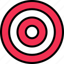 abstract, bullseye, design, target icon