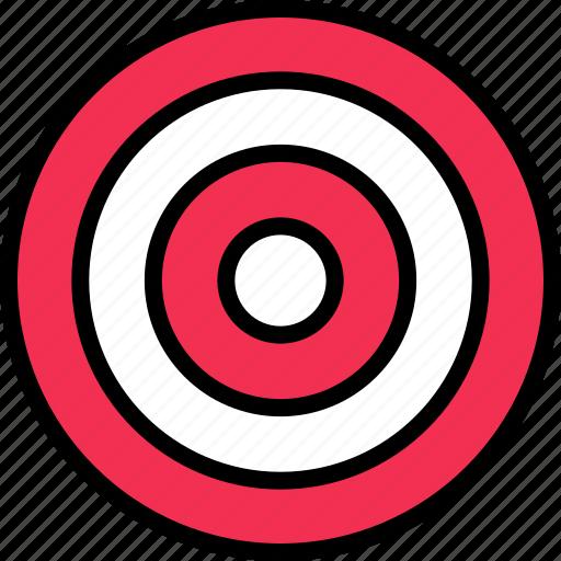 abstract, bullseye, design, target icon