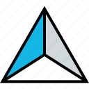 abstract, design, point, triangle, up icon