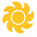 abstract, flower, sun, sunlight, sunny, sunrise, sunset icon