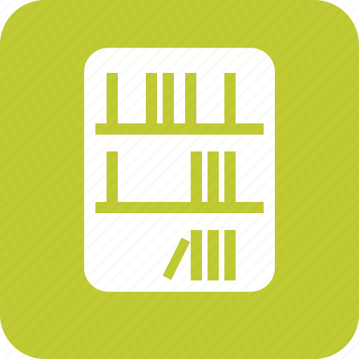 books, collection, education, library, literature, reference, study icon