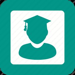 account, card, identity, login, password, student, user icon