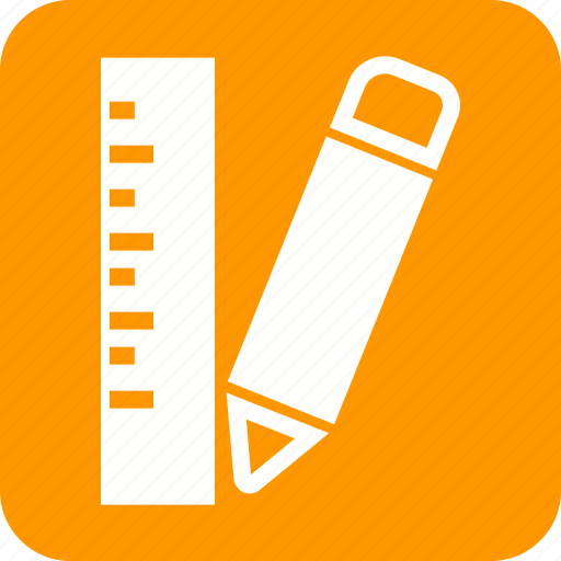 Draw, equipment, measure, pencil, ruler, scale, tool icon - Download on Iconfinder