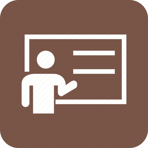 class, conference, demonstration, lecture, meeting, presentation, seminar icon