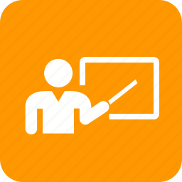 educator, lecturer, meeting, presenter, professor, school teacher, tutor icon