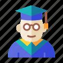 academy, diploma, education, study, university icon