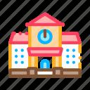 academy, building, educational, house, study