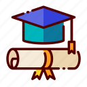 academy, education, graduation, study, university icon