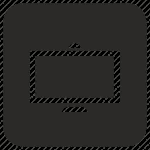 monitor, set, tv icon