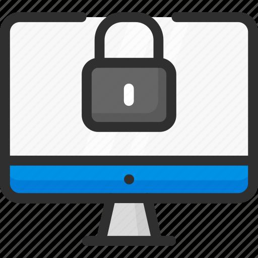 access, computer, lock, login, monitor, padlock, password icon