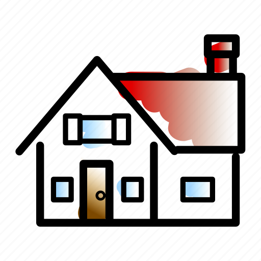 accommodation, bnb, cabin, house, hut, linebold, watercolor icon